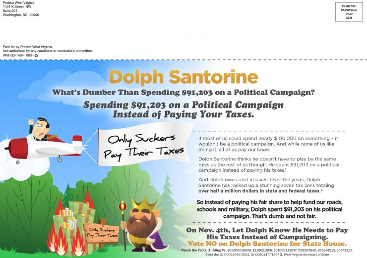 Campaign Against Dolph Santorine 2014